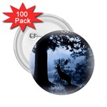 Animal Deer In Forest 2.25  Button (100 pack)