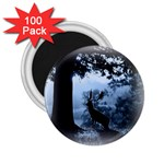 Animal Deer In Forest 2.25  Magnet (100 pack)
