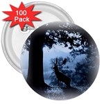 Animal Deer In Forest 3  Button (100 pack)