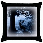 Animal Deer In Forest Throw Pillow Case (Black)