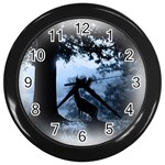 Animal Deer In Forest Wall Clock (Black)