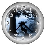 Animal Deer In Forest Wall Clock (Silver)