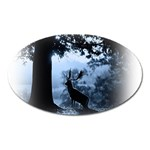 Animal Deer In Forest Magnet (Oval)