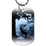 Animal Deer In Forest Dog Tag (Two Sides)