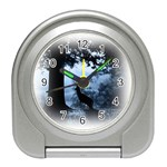Animal Deer In Forest Travel Alarm Clock