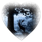Animal Deer In Forest Jigsaw Puzzle (Heart)