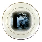 Animal Deer In Forest Porcelain Plate