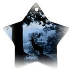 Animal Deer In Forest Star Ornament (Two Sides)