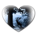 Animal Deer In Forest Mousepad (Heart)