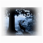 Animal Deer In Forest Glasses Cloth (Large)