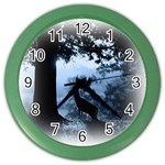 Animal Deer In Forest Color Wall Clock