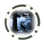 Animal Deer In Forest Poker Chip Card Guard