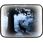 Animal Deer In Forest Mini Fleece Blanket(Two Sides)