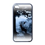 Animal Deer In Forest Apple iPhone 4 Case (Black)