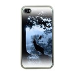 Animal Deer In Forest Apple iPhone 4 Case (Clear)