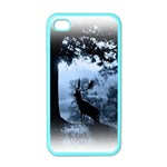 Animal Deer In Forest Apple iPhone 4 Case (Color)