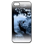 Animal Deer In Forest Apple iPhone 5 Seamless Case (Black)