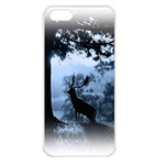 Animal Deer In Forest Apple iPhone 5 Seamless Case (White)