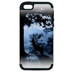 Animal Deer In Forest Apple iPhone 5 Hardshell Case (PC+Silicone)