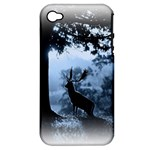 Animal Deer In Forest Apple iPhone 4/4S Hardshell Case (PC+Silicone)