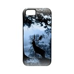 Animal Deer In Forest Apple iPhone 5 Classic Hardshell Case (PC+Silicone)