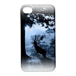 Animal Deer In Forest Apple iPhone 4/4S Hardshell Case with Stand