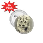 Animal Lion Hunting For Love 1.75  Button (10 pack)