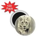 Animal Lion Hunting For Love 1.75  Magnet (100 pack)