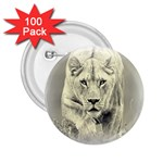 Animal Lion Hunting For Love 2.25  Button (100 pack)