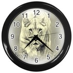 Animal Lion Hunting For Love Wall Clock (Black)