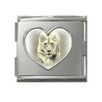Animal Lion Hunting For Love Mega Link Heart Italian Charm (18mm)