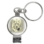 Animal Lion Hunting For Love Nail Clippers Key Chain