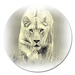 Animal Lion Hunting For Love Magnet 5  (Round)