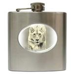 Animal Lion Hunting For Love Hip Flask (6 oz)