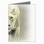 Animal Lion Hunting For Love Greeting Cards (Pkg of 8)