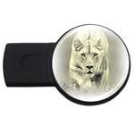 Animal Lion Hunting For Love USB Flash Drive Round (2 GB)