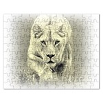 Animal Lion Hunting For Love Jigsaw Puzzle (Rectangular)