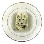 Animal Lion Hunting For Love Porcelain Plate