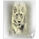 Animal Lion Hunting For Love Canvas 8  x 10