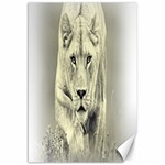 Animal Lion Hunting For Love Canvas 12  x 18