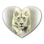 Animal Lion Hunting For Love Mousepad (Heart)