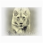 Animal Lion Hunting For Love Glasses Cloth (Large)