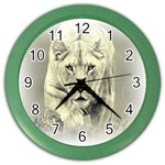 Animal Lion Hunting For Love Color Wall Clock