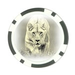 Animal Lion Hunting For Love Poker Chip Card Guard