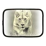 Animal Lion Hunting For Love Netbook Case (Medium)