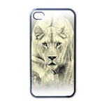 Animal Lion Hunting For Love Apple iPhone 4 Case (Black)