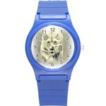 Animal Lion Hunting For Love Round Plastic Sport Watch Small