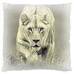 Animal Lion Hunting For Love Large Cushion Case (One Side)
