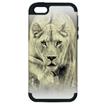 Animal Lion Hunting For Love Apple iPhone 5 Hardshell Case (PC+Silicone)