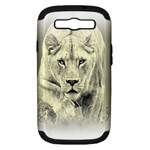 Animal Lion Hunting For Love Samsung Galaxy S III Hardshell Case (PC+Silicone)